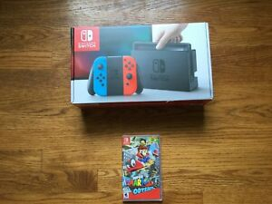 Details About New Nintendo Switch 32gb Neon Console W Super Mario Odyssey System Bundle Lot