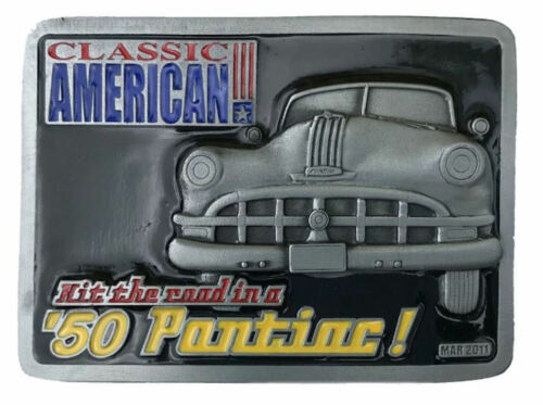 50/'s PONTIAC Officially Licensed Belt Buckle
