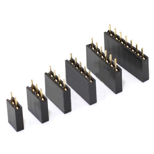 2P~40Pin 2.54mm Single Row Straight Female Pin Header Strip Copper PCB F Ardunio