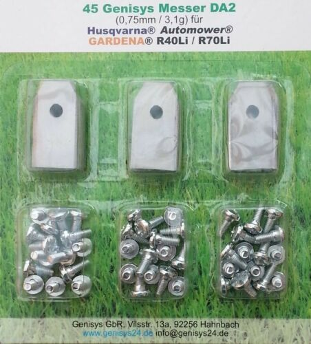 45 Stainless Steel Replacement Blades for Husqvarna Automower 0,75mm Extra Thick * TOP QUALI