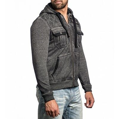Affliction ON THE RUN Hoodie Fleece Jacket NWT FREE SHPIPING