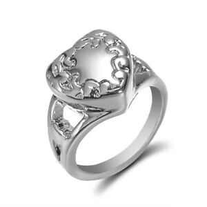 New-Fashion-Heart-Cremation-Ash-Urn-Memorial-Keepsake-Ring-Jewelry-Gift-Size-6-9