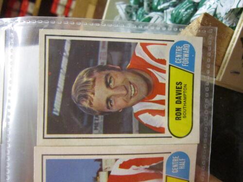 FIGURINE FOOTBALL ENGLAND NEW BC 1969//70 GREEN BACK SCEGLI DAL MENU/' A TENDINA