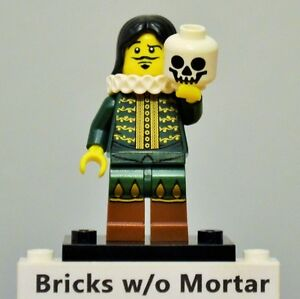 New-Genuine-LEGO-Actor-Thespian-Minifig-with-Skull-Series-8-8833
