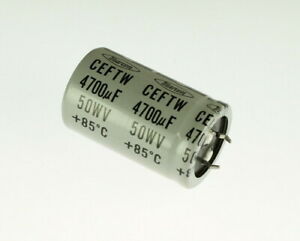 MARCON-Capacitor-CEFTW1H472M-4700uF-50V-Aluminium-Electrolytic-Snap-in-USED-11
