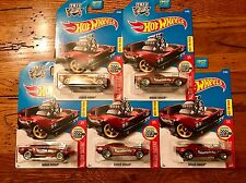 2017 Hot Wheels RODGER DODGER Valentines Day Holiday Racers Lot of 5 FIVE Cars