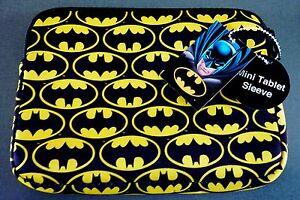 NEU BATMAN MINI TABLET SLEEVE Tasche Hülle für Apple Samsung 9,4 Zoll DC COMICS