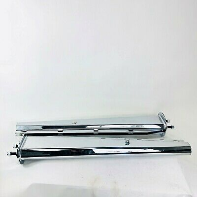 """Chrome Spring Loaded Mud Flap Hangers Straight Tapered 2-1//2/"""" Bolt"""