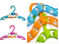 40 x Kids Baby Plastic Coat Clothes Garment Trousers Hangers New