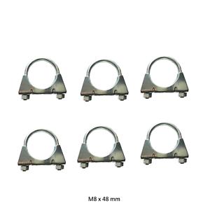 6 Stück M8 x 48 mm Auspuffschelle Bügelschelle Rohrschelle Auspuff Rohr  S25248a