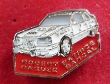 RARE PIN'S PEUGEOT 309 GTI 16 S RALLYE EQUIPAGE ROBERT DAGUZE PATRICE BANCAL