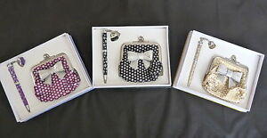 CHIC-LADIES-PEN-AND-BOW-COIN-PURSE-SET-NEW-AND-BOXED-CHOICE-3-COLOURS