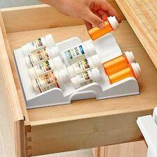 Expand-A-Drawer Medicine Pills & Spice Bottles Organizer caddy insert
