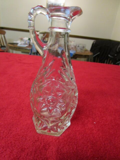 Oil Vinegar Pourer Glass Vintage and Antique Hot and Rare Cut Glass