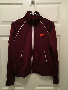 Virginia-Tech-Hokies-Women-039-s-Soccer-Team-Issued-Nike-Full-Zip-Jacket-Medium