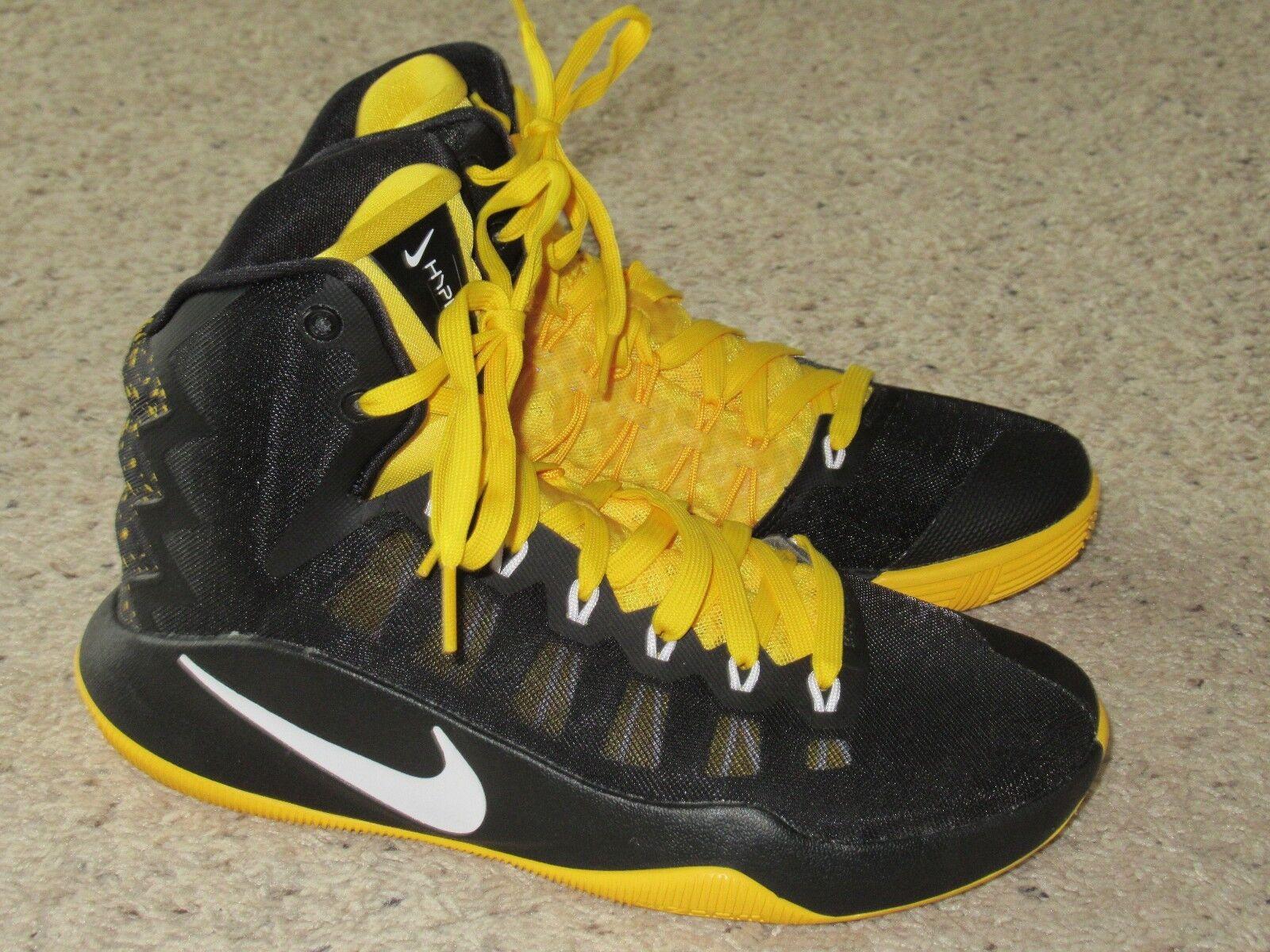 Nike Zoom Hyperdunk Mens Basketball Sneakers Shoes Black Yellow 7.5