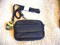 Ladies Men's Leather Accessory Bag Utility Cell Phone Purse Wallet 6 X 4 X 2