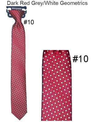 Boy/'s 14 inch Dot Classic Zipper Necktie Zipper Tie Pre-Made Ties NWT