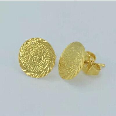 Ceyrek Küpe Gold Ohrstecker Ohrringe 22 Ayar Altin Kaplama Henna m.