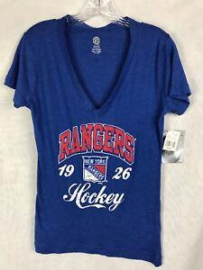 New York Rangers NHL Women s Short Sleeve Heathered T-Shirt Hockey ... 3e33e699d