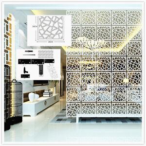 Details About 6pcs 12pcs Diy Room Divider White Hanging Screen Lattice Wall Panel Decor