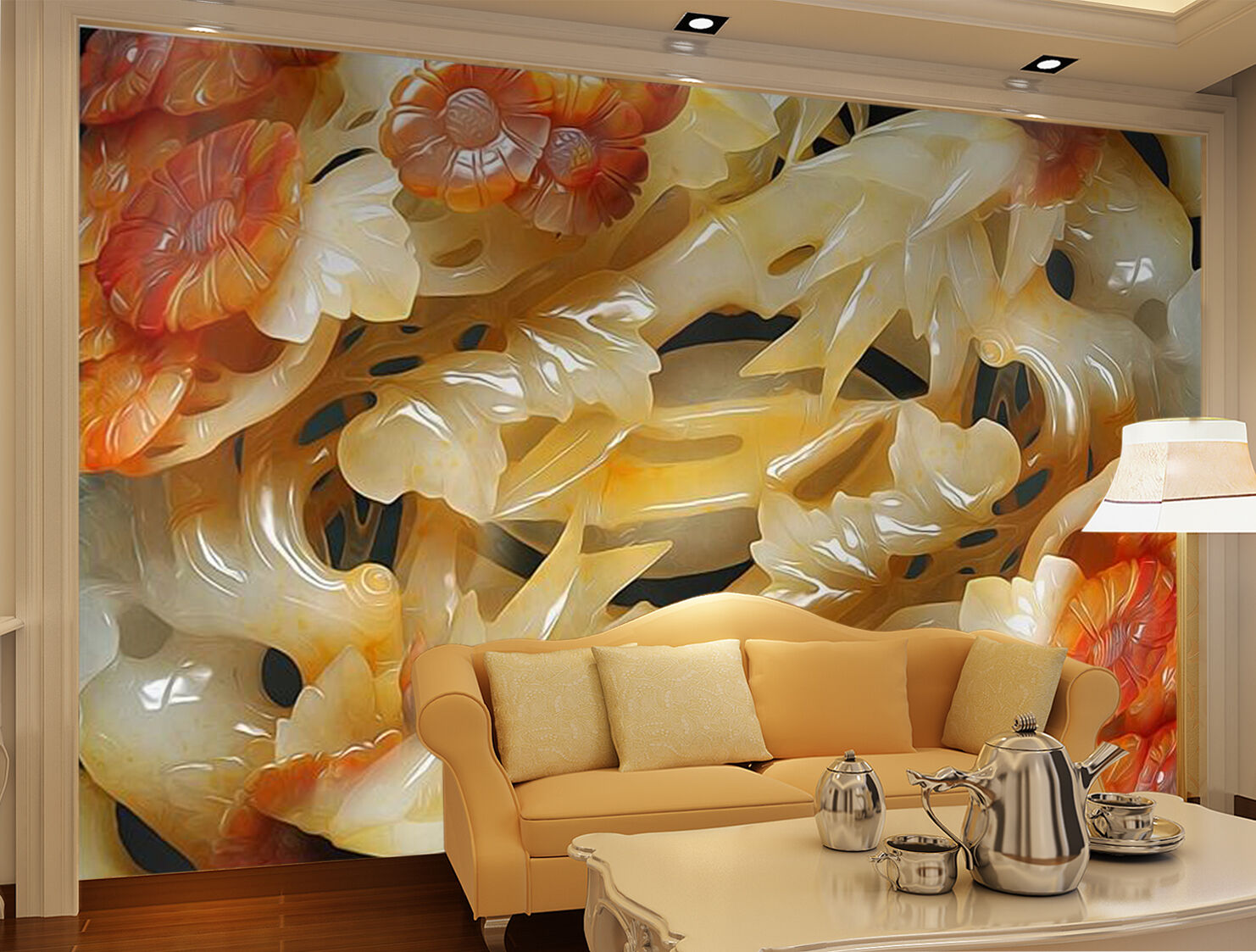 3D Jade carving 2311 Wall Paper Wall Print Decal Wall Deco Indoor Wall Murals