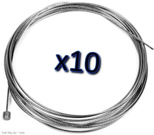 10 x Jagwire Slick Stainless Shift Derailleur Shifter Cables 2300mm SRAM Shimano
