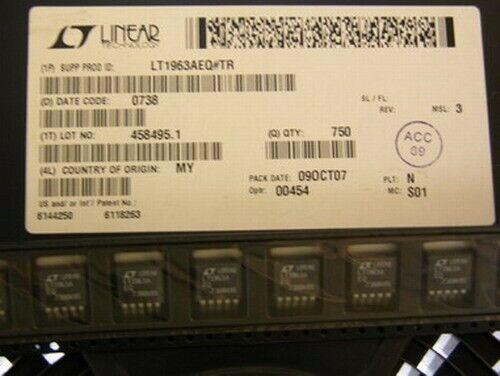 8 Linear LT1963AEQ#  1.5A Adjustable Low Noise FTR LDO Voltage Regulators