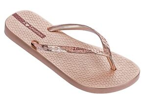 65d57d9406a Ipanema NEW Glam rose gold metallic fashion flip flops flat summer ...