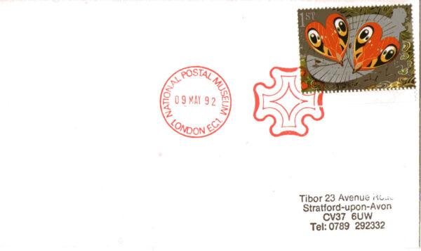 9 Mai 1992 Greetings Papillons Housse Npm Croix De Malte London Ec1 Shs Grande Vente De Liquidation