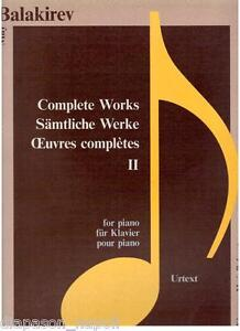 Balakirev:Werke Für Klavier Vol.ii, Urtext - Samantha Rae K