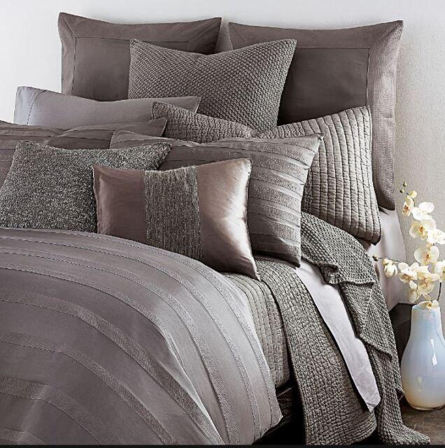Donna Karan Essentials City Stripe Silk Standard Sham Peony