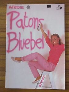 PATONS-KNITTING-629-BLUEBELL-LADIES-TWIN-SET-JUMPER-JACKET-TOP-VEST-5-PLY