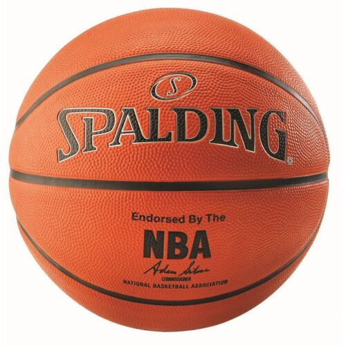 Spalding NBA Silver Outdoor Rubber Cover Core Basketball