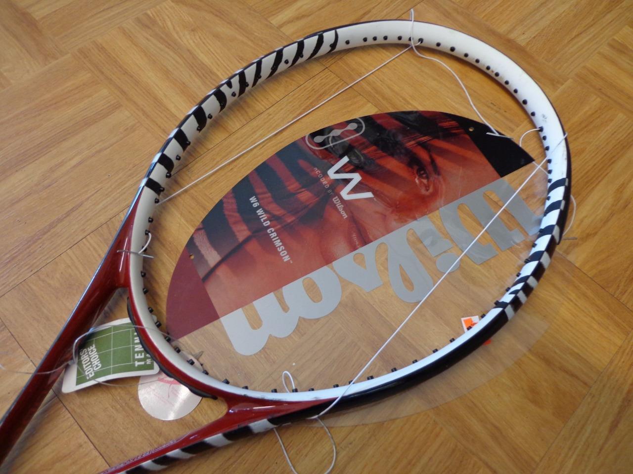 Nuevo Wilson W6 Wild carmesí 97 cabeza 4 1 1 1 2 Grip Tenis Raqueta 509ebe