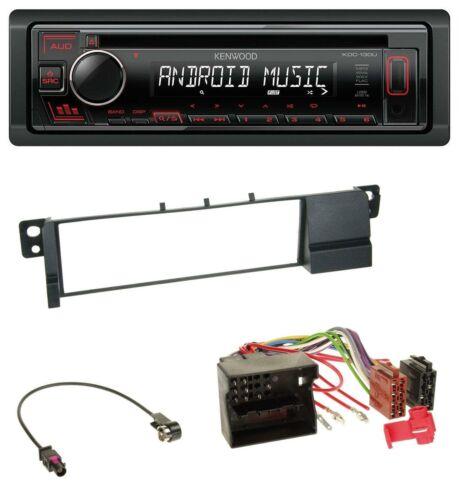 Kenwood MP3 CD 1DIN AUX USB Autoradio für BMW 3er E46 Quadlock
