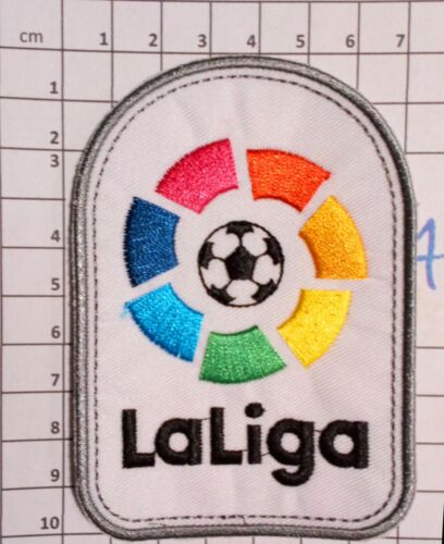 Espagne Patch badge La liga Brodé maillot foot Madrid, Barcelone  16/17-17/18