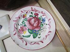 ancienne assiette faience de l'est les islettes decor floral peint 18 eme