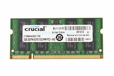 Crucial 2GB 2Rx8 PC2-6400S DDR2 800MHz 200PIN SO DIMM RAM Laptop Intel Memory