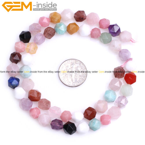 AAA Faceted Multicolor Semi Precious Gemstone DIY Beads For Jewelry Making 15/'/'