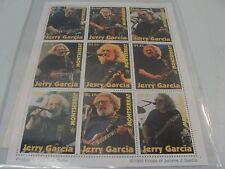 JERRY GARCIA GREATFUL DEAD CONCERT STAMP BLOCK OF 9 COA MONTSERRAT