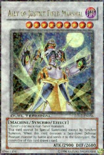 Duel Termi 1x Ally of Justice Field Marshal DT02-EN036 Ultra Parallel Rare