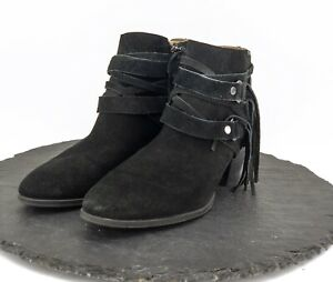 3d694695704 Details about Franco Sarto Womens Black Suede Ankle Boots Zip Up Booties  Pointed Toe Size 9M