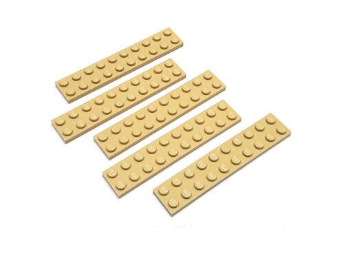 4249019 placa de lego 2 x 10 beige 5 unidades nuevo