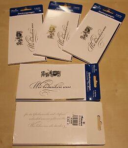 Details Zu 10 X Danksagungskarte Mit Umschlag Goldene Hochzeit Klappkarten 049karte