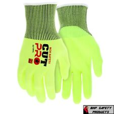 Ansi A4 Cut Resistant Gloves 13 Gauge Hi Visibility Shell Nitrile Coated Palm