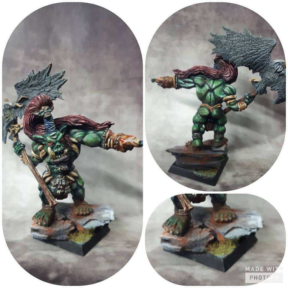 ⭐ Orc battle standard bearer Warhammer aos Figures age of sigmar Miniatures