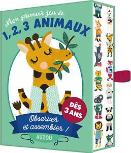 Premier Jeu De Carte 1 2 3 Animaux Des 3 Ans Jouets Enfants Observer Assembler Ebay
