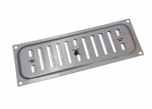 NEW-12-LOT-Bright-Chrome-Hit-And-Miss-Louvre-Vents-Ventilation-Covers-9-X-3-Inch