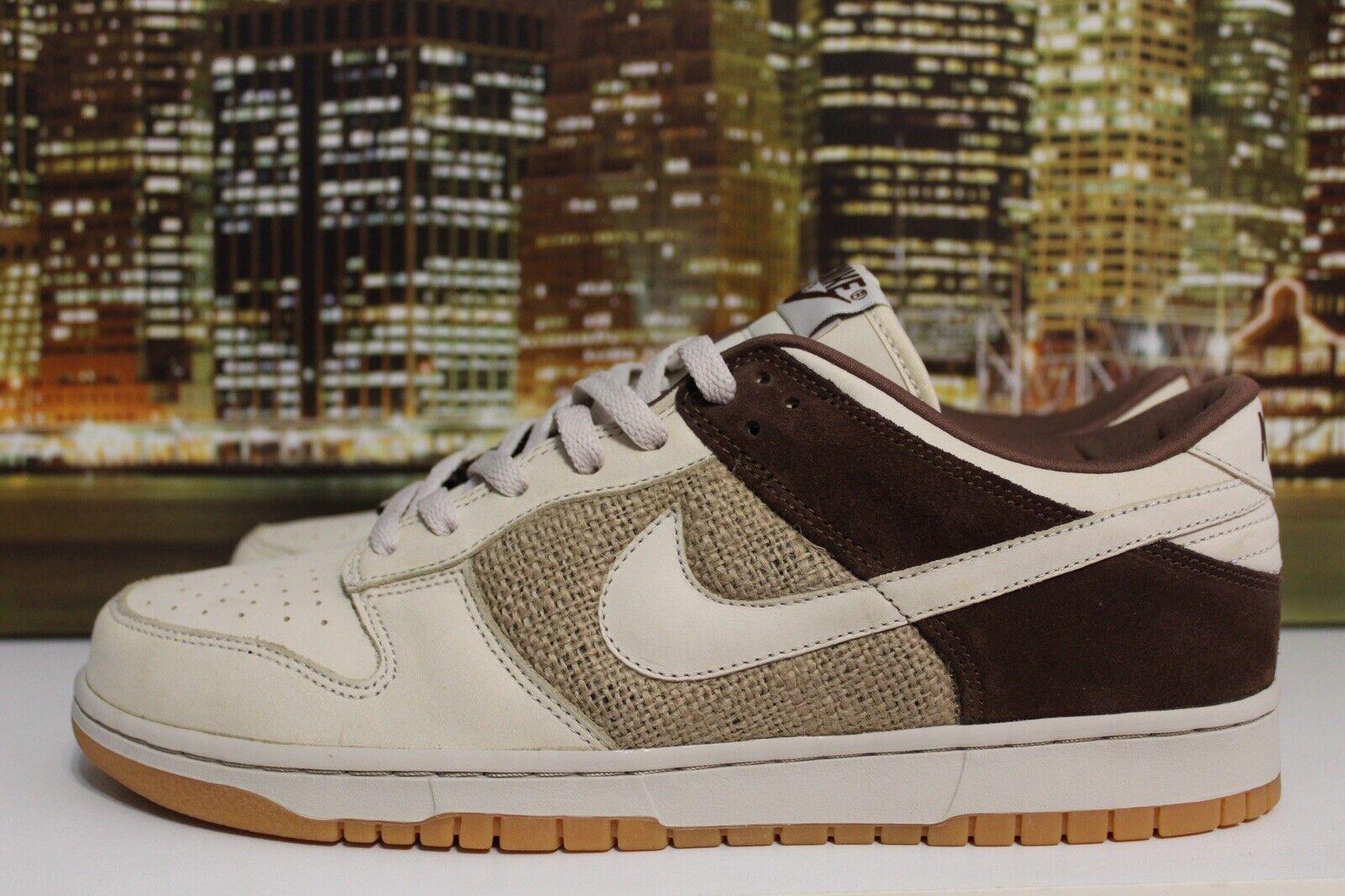 Nike Dunk Low Mushroom Birch Hemp Brown Beige Gum 2005 Sneakers Size 12